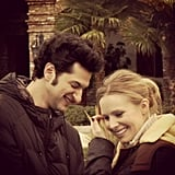 House of Lies star Ben Schwartz posted this behind-the-scenes shot of him and Kristen Bell from this week's episode, which he called one of his favorites so far.  Source: Instagram user rejectedjokes