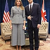 Melania Wearing the Dior Suit at the 2017 Invictus Games