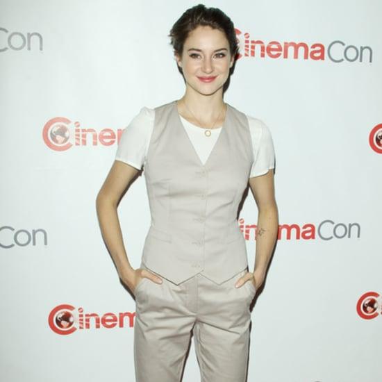 Shailene Woodley in Khaki Suit at CinemaCon | Video