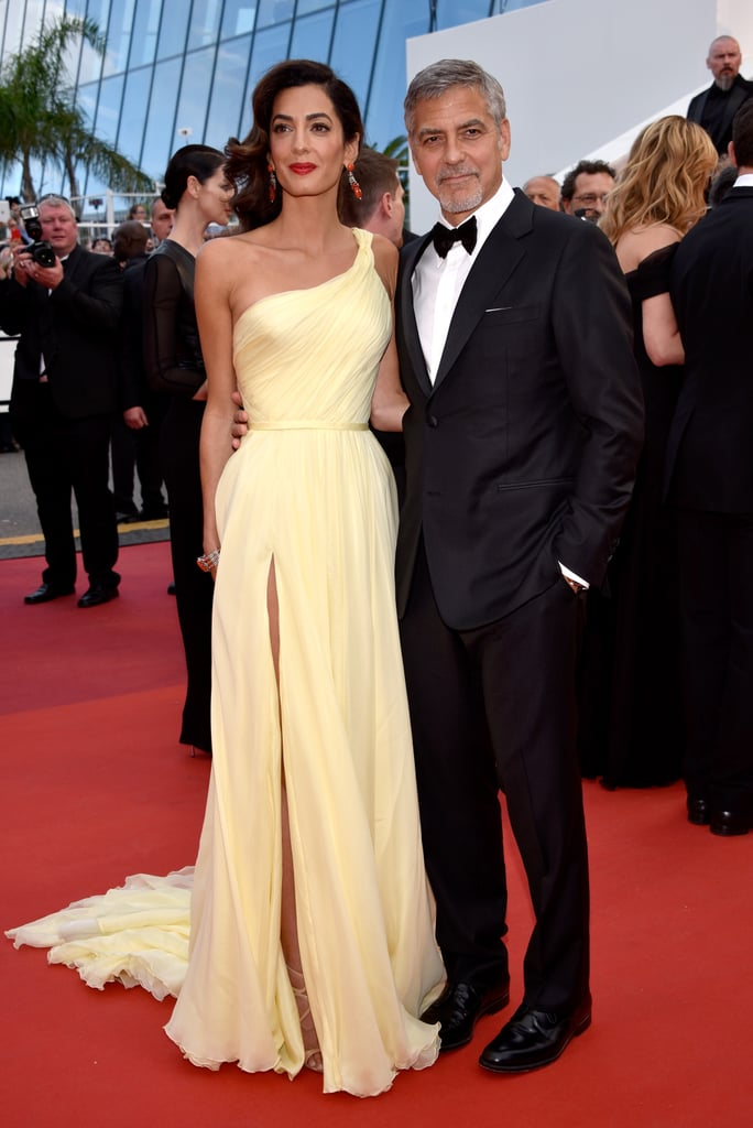 For the 2016 premiere of Money Monster at the Cannes Film Festival, Amal wore a yellow Atelier Versace gown.