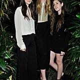 Danielle, Este, and Alana Haim chose neutral separates, completing their outfits with a hefty dose of black.