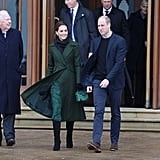 Kate Middleton Michael Kors Peacock Dress