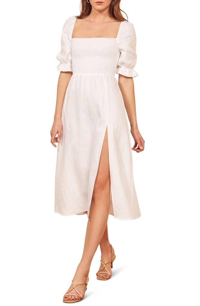 Reformation Plus Size Marabella Linen Dress
