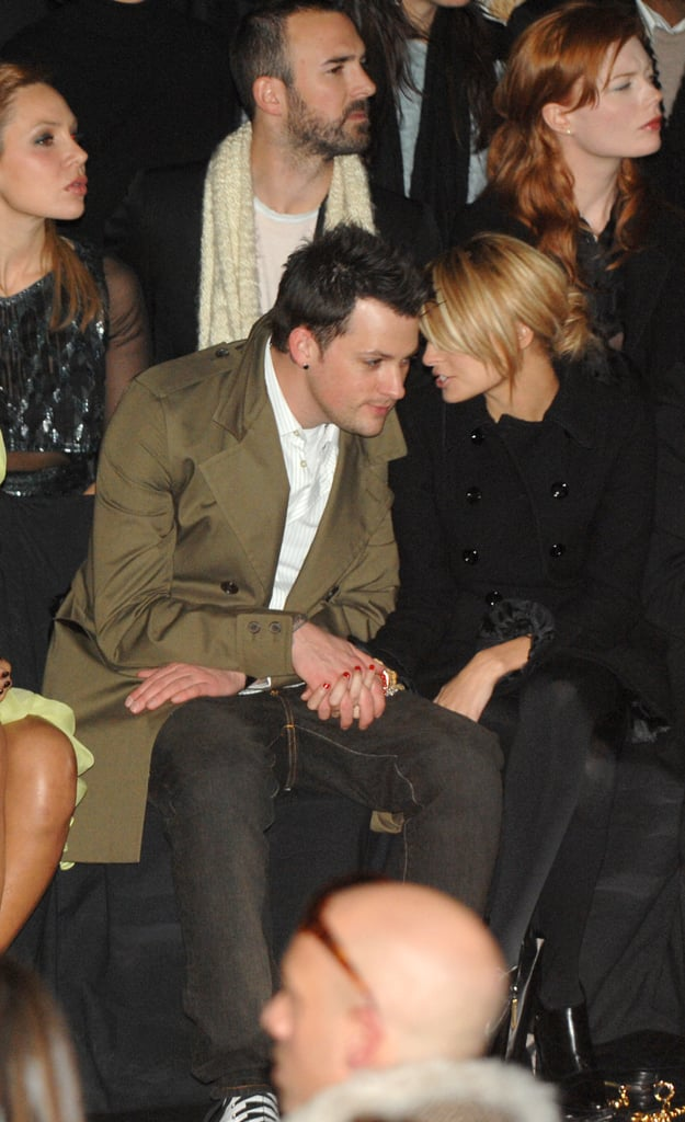 Nicole Richie and Joel Madden kept close during New York Fashion Week in February 2007.