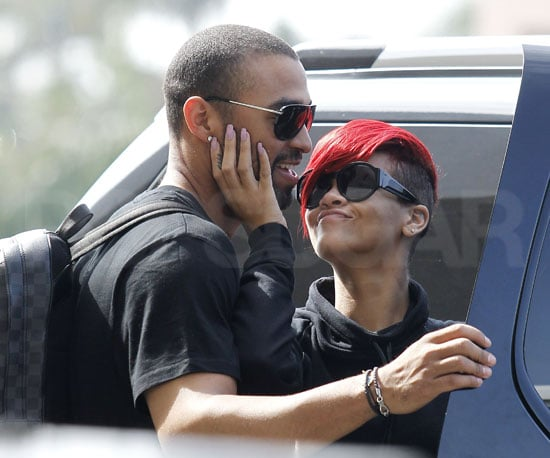 Slide Picture of Rihanna and Matt Kemp Kissing at LAX