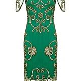 GatsbyLady Green Short Sleeved Embellished Dress (£99)