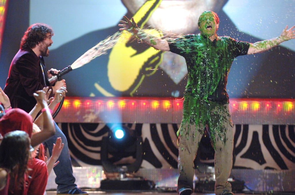 Jack Black sprayed slime at Robin Williams in 2006.
