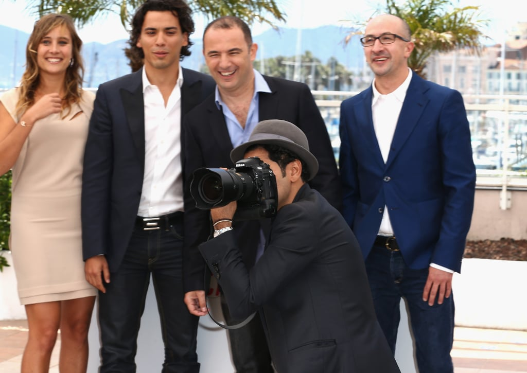 French actor Jamel Debbouze stole a photographer's camera on Tuesday during a photocall for the film Né Quelque Part at the Cannes Film Festival.