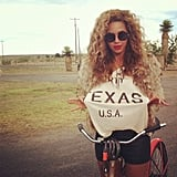 Beyoncé showed off her Texas pride. Source: Instagram user mydamnstagrams