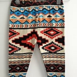 The Aztec look is big for Fall, and these Southwestern-print baby leggings ($25) by Little Four Clothing are a bold, fun print for little legs.