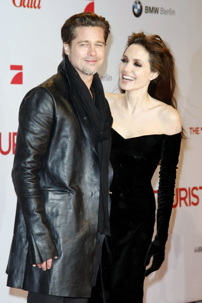 Angelina Jolie and Brad Pitt traveled to Berlin in December 2010 for the premiere of her spy thriller The Tourist.