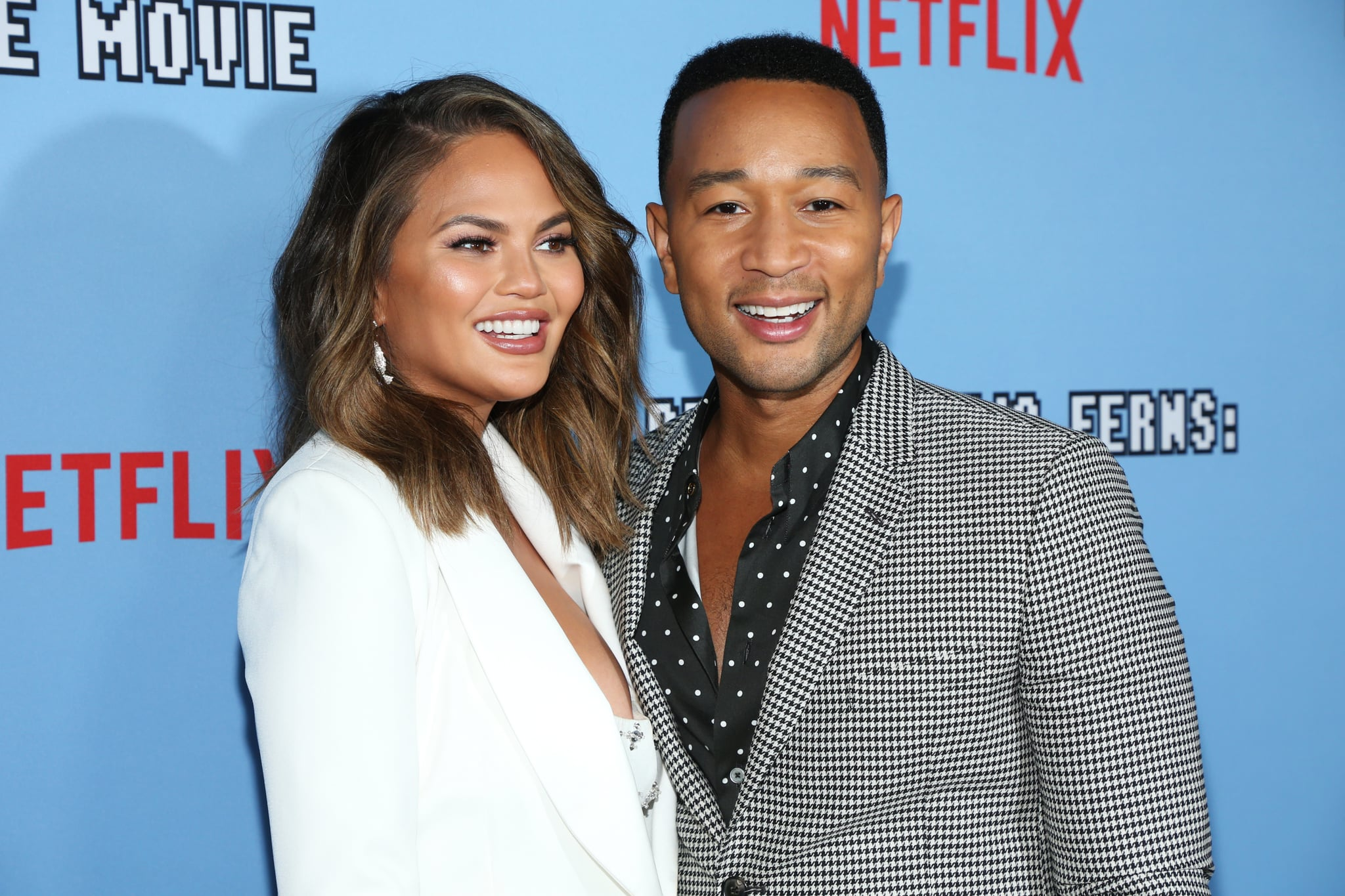 HOLLYWOOD, CALIFORNIA - SEPTEMBER 16: Chrissy Teigen and John Legend attend the LA premiere of Netflix's