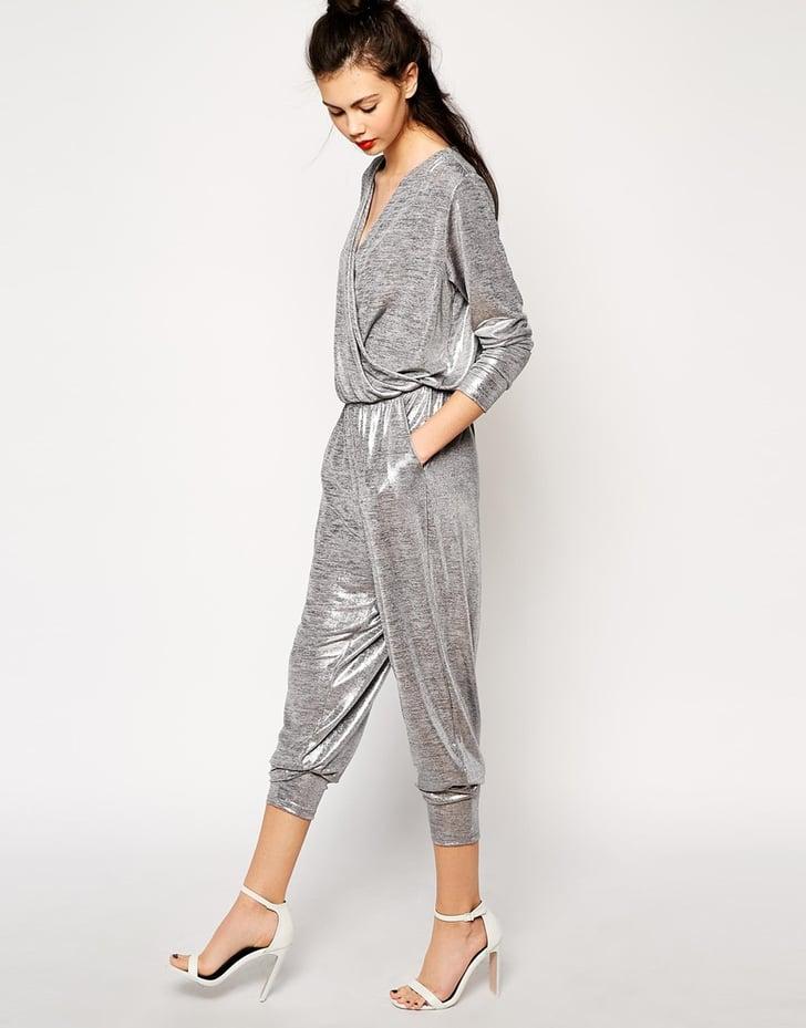 Monki Metallic Jumpsuit Metallic Holiday Clothes