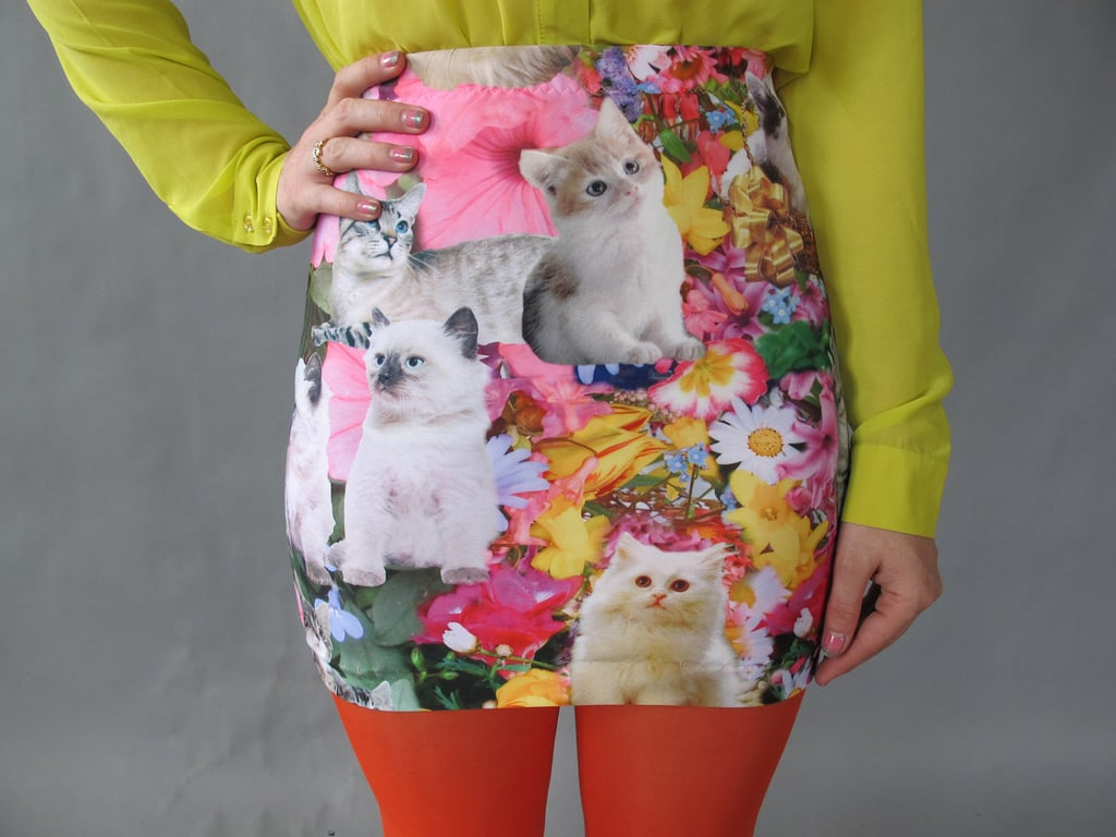 Um, is there anything more adorable than this kitty garden miniskirt ($56)?