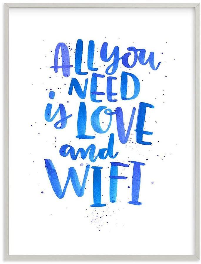 Love and Wifi Wall Art