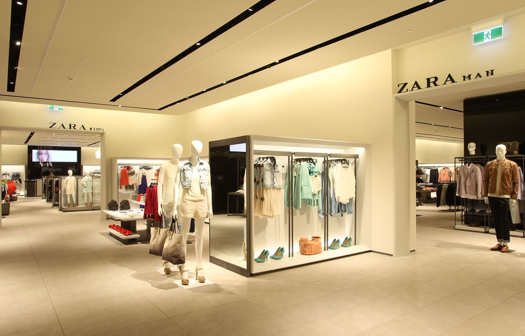 The ground level houses the Zara Man, Zara Childrens lines and a selection of the Zara TRF line.
