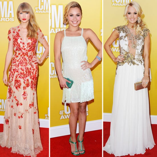 Taylor Swift, Carrie Underwood & Hayden Panettiere CMA Style