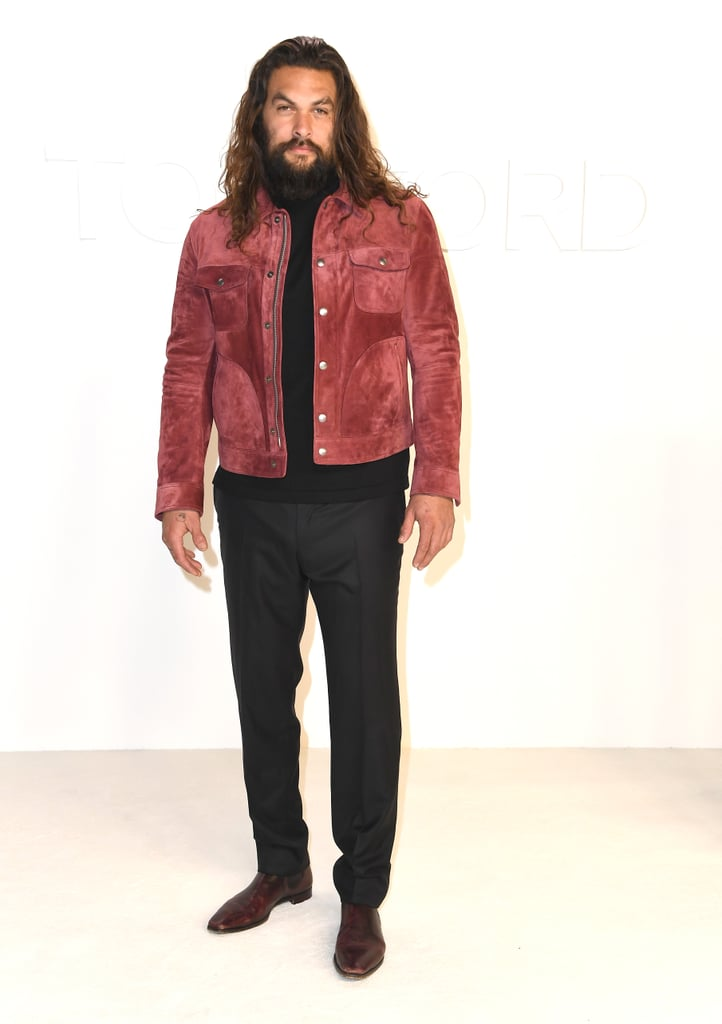 Jason Momoa at the Tom Ford Fall 2020 Show