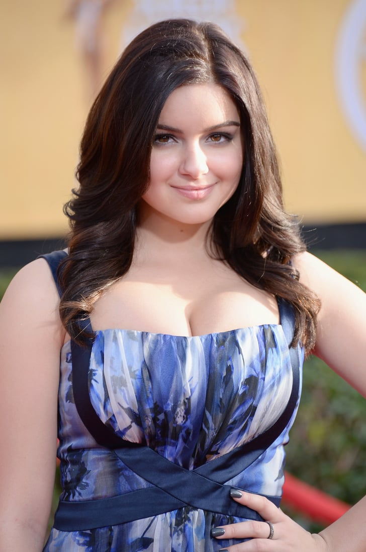 Ariel Winter Wore A Printed Gown  Modern Family Cast At The Sag Awards 2014 -6054