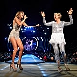 Ellen DeGeneres on Stage With Taylor Swift