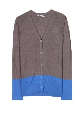 We're adding a colorblock cardigan to our Spring wardrobe. It adds just the right amount of interest, yet is still subtle enough for layering with just about anything.  T by Alexander Wang Colorblock Cardigan ($195)
