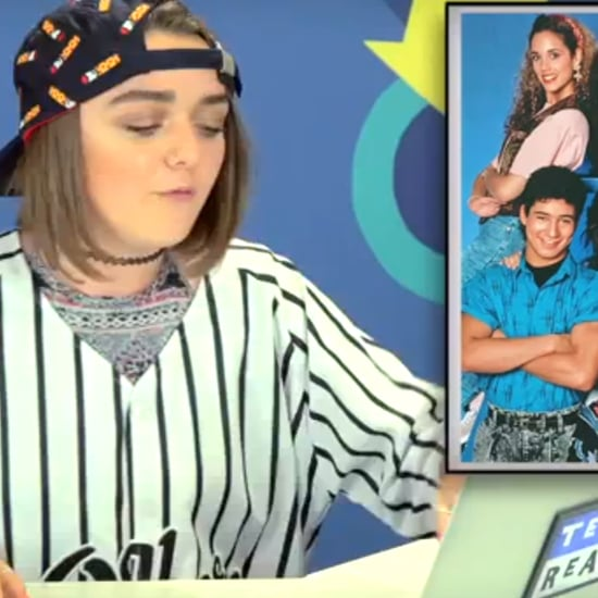 Game of Thrones Maisie Williams Watching Saved By The Bell