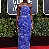 Lupita Nyong'o Dress and Heels at the 2019 Golden Globes