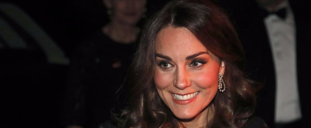 Kate Middleton Gives a Glimpse of Her Growing Belly During a Charity Gala