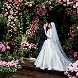 Miranda Kerr's Dior Wedding Dress, 2017