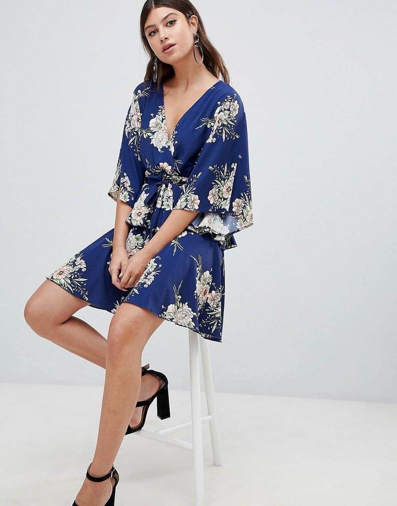 Pretty Little Thing Kimono Sleeve Wrap Dress