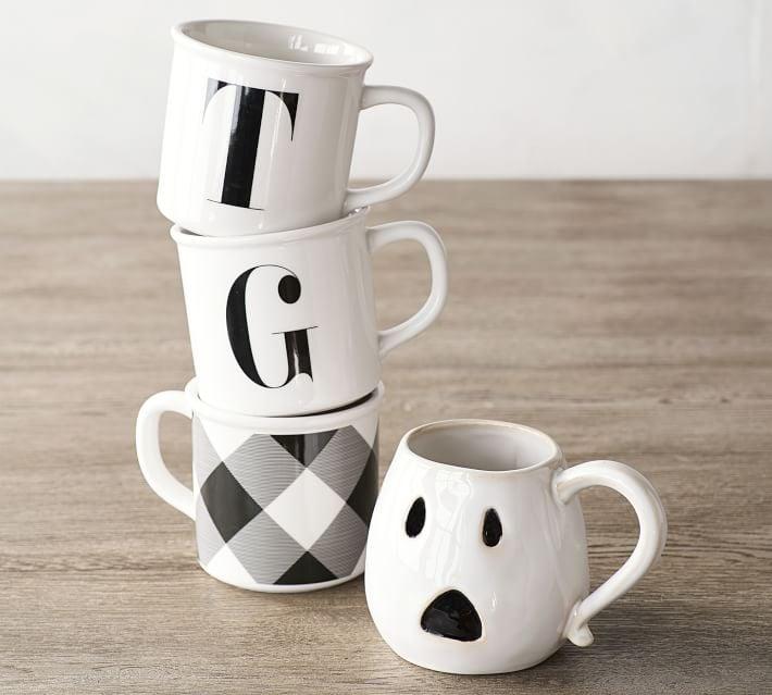 f11f7fceefa Figural Ghost Mug Set | Pottery Barn Halloween Collection 2017 ...