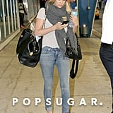 Lauren Conrad arrived at the airport in Miami.