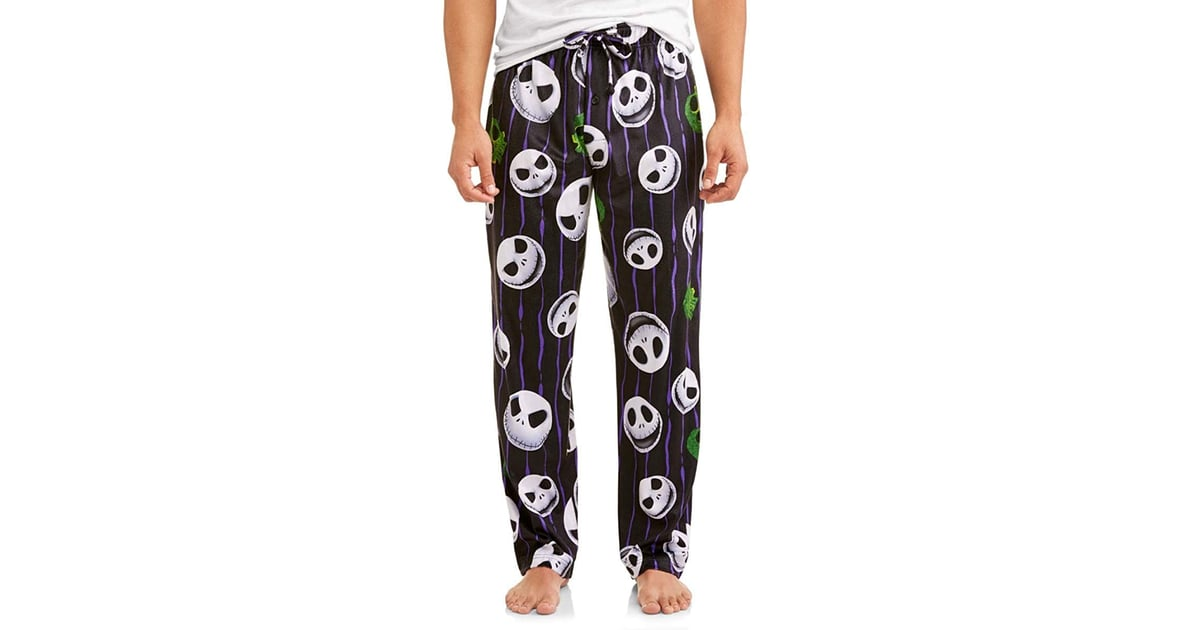 Disney Nightmare Before Christmas Men s Jack Skellington Skulls Graphic  Lounge Pants  a6ee6b300