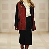 Tuxedo Stripes, Tweeds, and Pretty Bow Blouses Dominate Tory Burch's Fall 2011 Collection