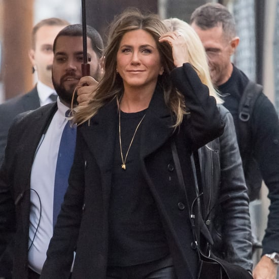 Jennifer Aniston Maroon Boots December 2018