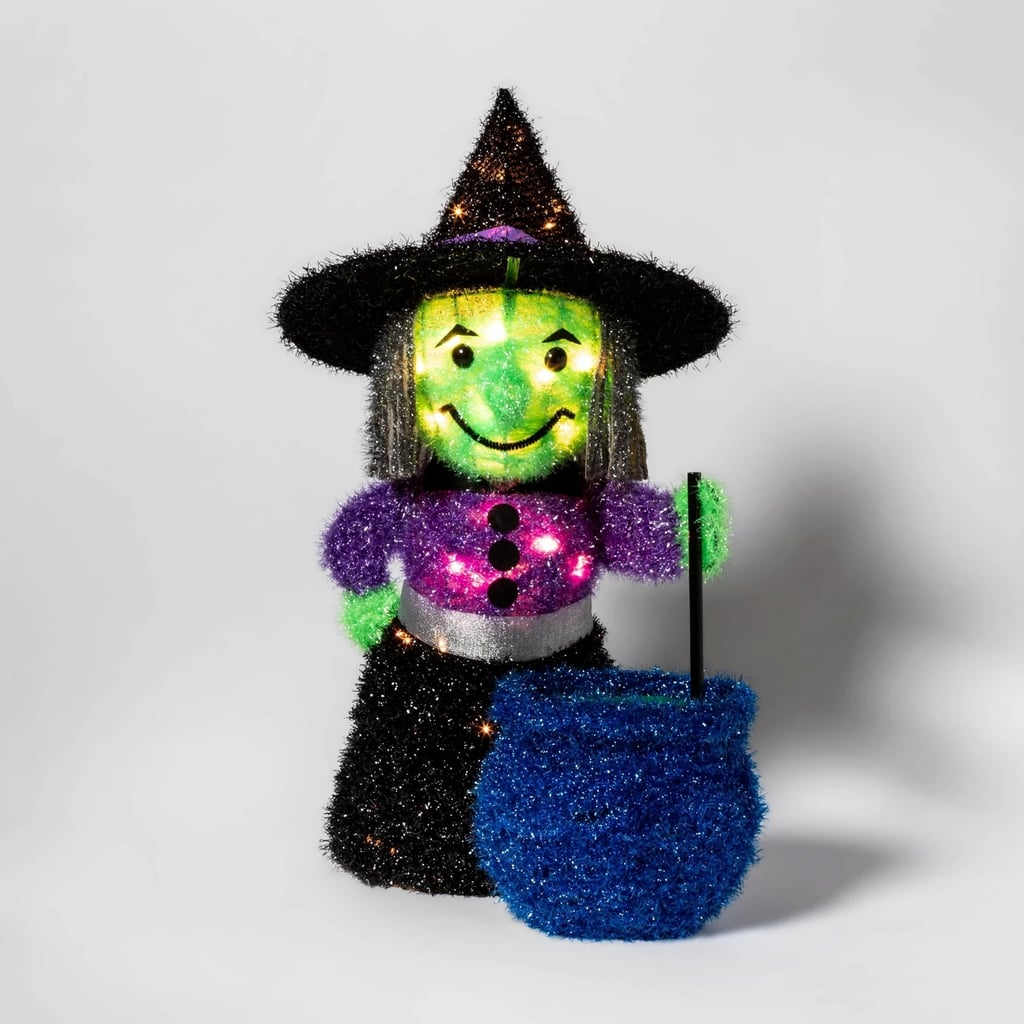 Incandescent Moving Tinsel Witch