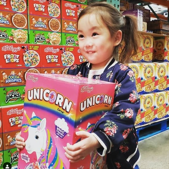 Girl Carrying Kellogg's Unicorn Cereal at Costco