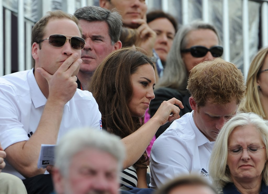 Prince William, Kate Middleton, and Prince Harry watched Olympics day four.