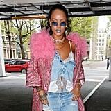 Rihanna Wearing Savage x Fenty White Camisole