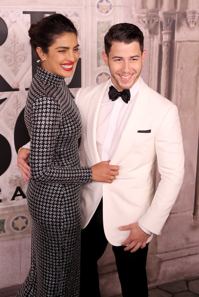 "Congratulations are in order for Priyanka Chopra and Nick Jonas! The couple tied the knot in Jodhpur, India, on Saturday in a Christian ceremony at the Taj Umaid Bhawan Palace. The Quantico star stunned in a custom gown by Ralph Lauren, while her singer beau stayed sharp in a tuxedo by the same designer. They said their vows in front of friends and family members, including Nick's brothers, Kevin and Joe, and their respective partners, Danielle Jonas and Game of Thrones star Sophie Turner.  Priyanka and Nick touched down in India on Nov. 22 and spent time with Priyanka's parents, Ashok and Madhu, in Delhi. There, they had a traditional puja prayer ceremony at the actress's family home before heading to Jodhpur to kick off the wedding festivities.  News of Nick and Priyanka's relationship first broke in May, and the ""Chains"" singer popped the question two months later. Nick opened up about the romantic moment in Priyanka's Vogue January cover interview, revealing that she ""took about 45 seconds"" to respond. Even though the couple have officially gotten hitched, the party is nowhere near over; celebrations will continue until Dec. 3, and Priyanka even admitted to Vogue that guests ""will need vacations after this wedding.""  Cheers to Nick and Priyanka!"