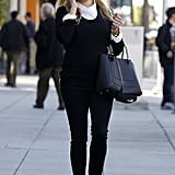 Reese Witherspoon wore black sunglasses.