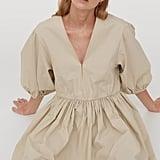 H&M V-Neck Taffeta Dress