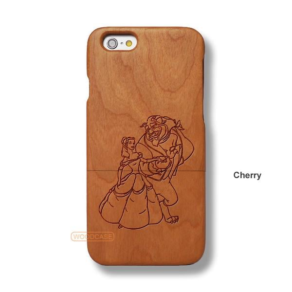 Belle and Beast Sapele Wood Case
