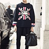 Emily Weiss took a British punk vibe to the streets of Paris. Source: Le 21ème   Adam Katz Sinding