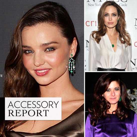 Celebrities Wearing Emerald Jewelry Popsugar Fashion