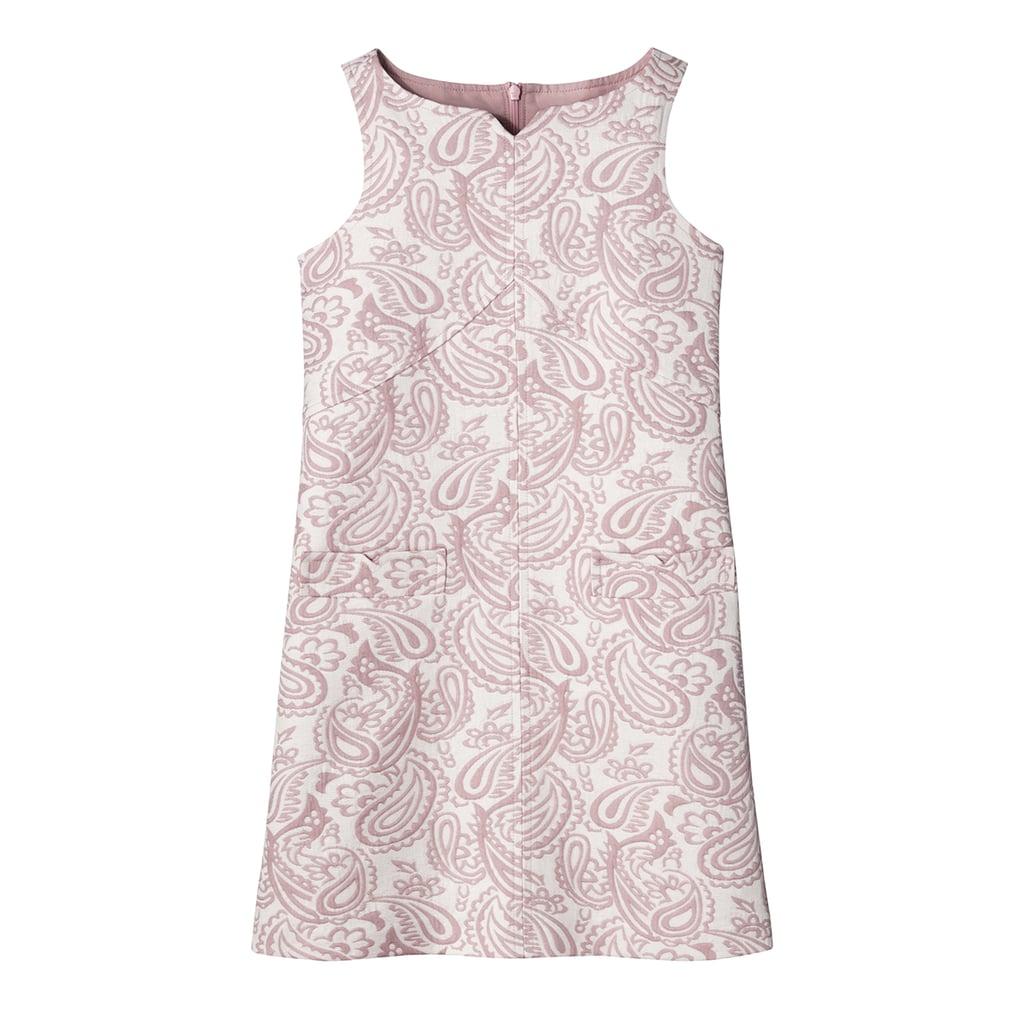 Girls' Blush Floral Jacquard Shift Dress ($28)