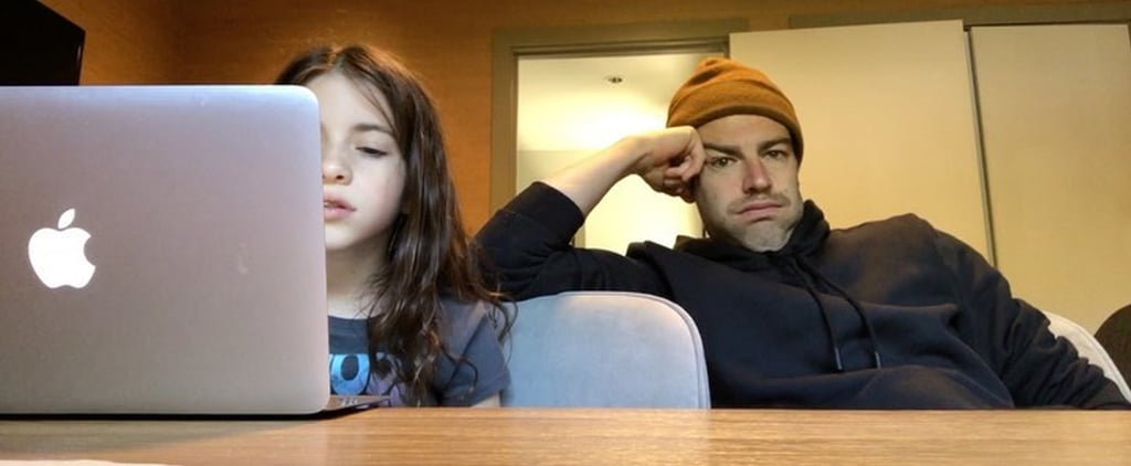Max Greenfield's Funny Homeschool Videos With Daughter Lilly
