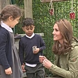 Duchess of Cambridge gets back to nature with adoring young fans