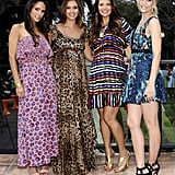 Jessica Alba with Jordana Brewster and Ali Landry at a Lucky magazine event.