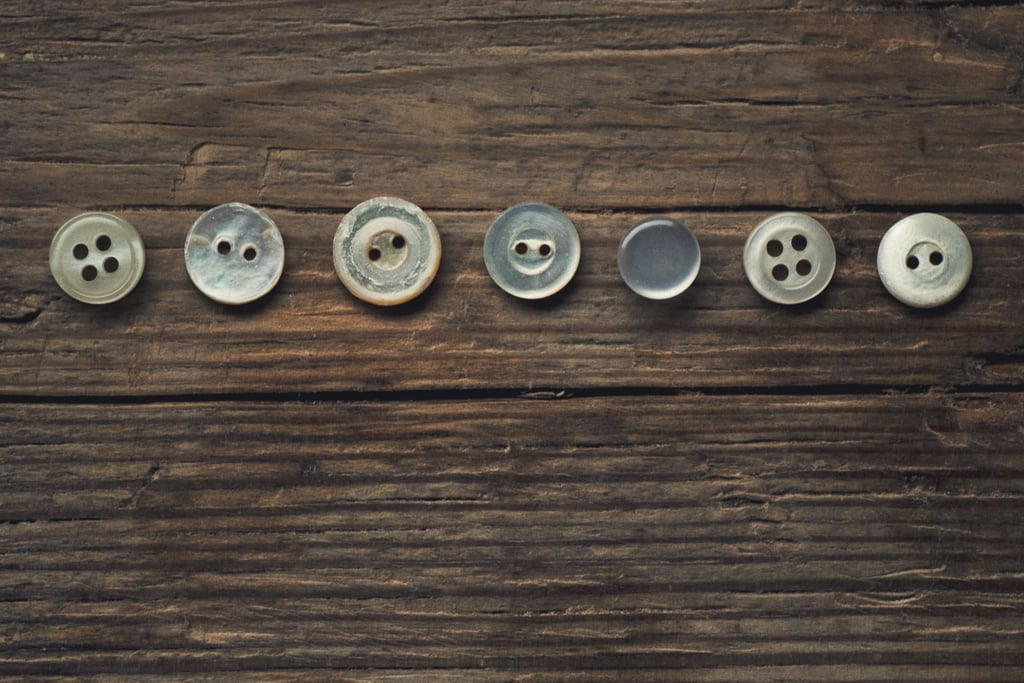 Extra buttons that come with newly purchased clothes